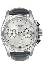 ハミルトン 時計 Hamilton Jazzmaster Auto Chrono Silver Dial Mens watch #H32606855