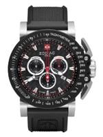 ゾディアック 時計 Zodiac Mens ZO8503 Analog Display Swiss Quartz Black Watch
