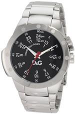 ドルチェガッバーナ 時計 DampG Dolce amp Gabbana Mens DW0569 Jack Black Matte Dial Red Second Hand