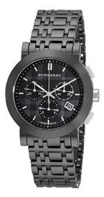 バーバリー 時計 Burberry Womens BU1771 Ceramic Black Chronograph Dial Watch