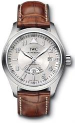 アイダブルシー 時計 IWC Spitfire Pilot UTC Steel Brown Mens Watch IW325110