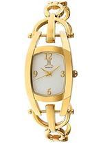 モメンタス 時計 Momentus Gold Stainless Steel White Dial Jewelry Style Women's Watch FJ163G-09SG