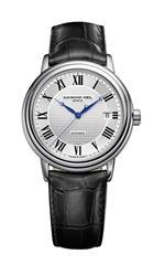 レイモンドウィル 時計 Raymond Weil Mens 2837-STC-00659 Maestro Silver Dial with Roman Numerals Watch