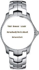 タグ ホイヤー 時計 NEW TAG HEUER LINK POLISHED /BRUSHED STAINLESS STEEL BRACELET BA0575