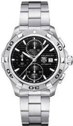 タグ ホイヤー 時計 Tag Heuer Aquaracer Automatic Black Dial Chronograph Mens Watch CAP2110.BA0833