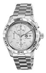タグ ホイヤー 時計 TAG Heuer Mens CAP2111.BA0833 Aquaracer Silver Chronograph Dial Watch