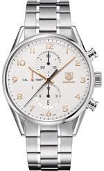 タグ ホイヤー 時計 Tag Heuer Carrera Chronograph Automatic Silver Dial Mens Watch CAR2012.BA0796