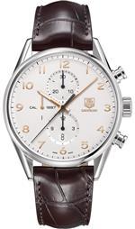 タグ ホイヤー 時計 Tag Heuer Carrera Calibre 1887 Chronograph Automatic Silver Dial Mens Watch