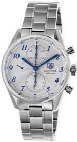 タグ ホイヤー 時計 TAG Heuer Mens CAS2111.BA0730 Carrera Silver Dial Chronograph Steel Watch