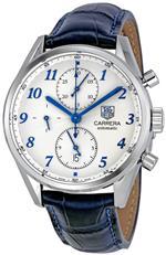 タグ ホイヤー 時計 Tag Heuer Mens CAS2111.FC6292 Carrera Heritage Silver Dial Dress Watch