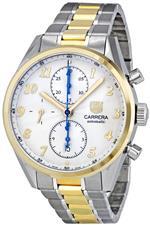 タグ ホイヤー 時計 Tag Heuer Mens CAS2150.BD0731 Calibre Heritage Silver Dial Dress Watch