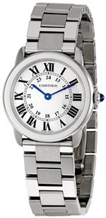 カルティエ 時計 Cartier Womens W6701004 Rondo Solo Stainless Steel Bracelet Watch