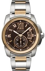 カルティエ 時計 MODEL W7100050  NEW CALIBRE DE CARTIER MENS AUTOMATIC 18K ROSE GOLD WATCH