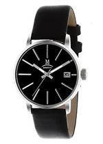 モメンタス 時計 Momentus Stainless Steel Black Leather Band Dial Women's Wrist Watch DW250S-04BS