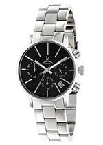モメンタス 時計 Momentus Silver Tone Stainless with Steel Black Dial Women's Watch DW253S-04SS