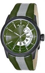 ケネスコール 時計 Kenneth Cole New York Mens KC1835 Classic Dark Green Open Date Watch