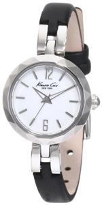 ケネスコール 時計 Kenneth Cole New York Womens KC2644 Classic Silver Diamond Cut Bezel Round Watch
