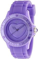 アイス 時計 Ice Love Lavender Dial And Silicone Band Analog Heart Women's Watch LO.LR.U.S.11