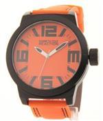 ケネスコール 時計 Kenneth Cole Reaction Orange amp Black Field Watch Rubber Strap RK1257