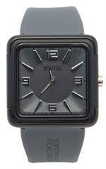 ケネスコール 時計 Kenneth Cole Reaction RK1261 Grey Square Face Grey strap Woman's Watch