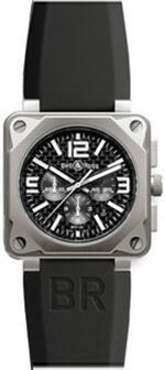 ベルアンドロス 時計 MODEL BR-01-94-CHRONOGRAPHE-PRO-TITANIUM-CARBON-FIBER  BELL  ROSS AUTO WATCH