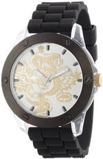 マークエコー 時計 Marc Ecko Mens E10568G1 The Tran 3-Hand Black Polyurethane Strap Watch