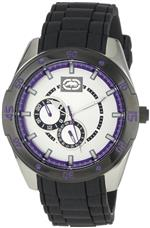 マークエコー 時計 Marc Ecko Mens E13515G2 The Phase Silver Dial Resin Strap Watch