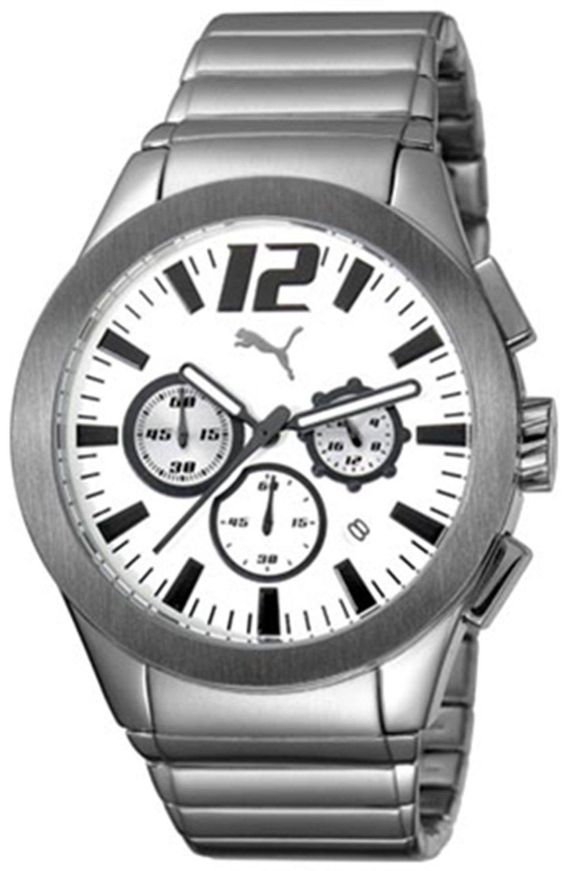 online retailer cd4c6 95290 プーマ 時計 Puma Tire Chronograph Steel Mens watch #PU101961007 - 輸入時計専門店 ショップ  タイムズ 通販