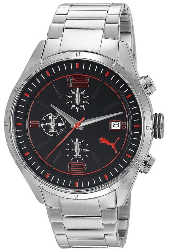 super popular ba955 1ddf5 プーマ 時計 Puma Time Mens Quartz Watch Driver Chrono Metal- L Silver  PU102621004 with Metal Strap - 輸入時計専門店 ショップ タイムズ 通販