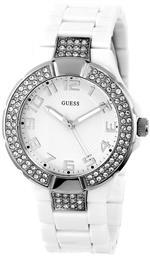 ゲス 時計 GUESS U95198L1 Status In-the-Round Watch - White and Silver