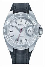 ブローバアキュトロン 時計 Accutron Curacao Silver White Dial Polyurethane Automatic Mens Watch<img class='new_mark_img2' src='https://img.shop-pro.jp/img/new/icons24.gif' style='border:none;display:inline;margin:0px;padding:0px;width:auto;' />