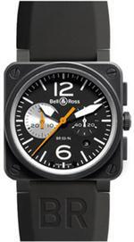 ベルアンドロス 時計 MODEL BR-03-94-BLACK--WHITE GENUINE NEW BELL  ROSS BR03-90 AUTO CHRONO WATCH