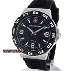 スイスミリタリー SWISS MILITARY MEN WATCH 'RACER' BLACK POLYCARBONATE BEZEL 100M 06-4R1-04-007