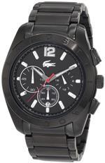 ラコステ 時計 Lacoste Panama Chronograph Black Dial Mens Watch 2010605