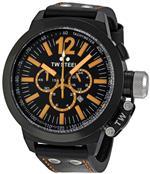ティーダブルスティール 時計 TW Steel Mens CE1030 CEO Canteen Black Leather Chronograph Dial Watch