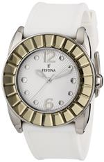 フェスティナ 時計 Festina F16540/2 Dream Womens Silver Dial White Rubber Band Analog Watch