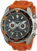 フェスティナ 時計 Festina F16574-2 Mens Sport Giro Black Dial Orange Rubber Strap Chronograph Watch