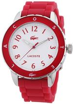 ラコステ 時計 Lacoste Womens Rio 2000746 Pink Silicone Analog Quartz Watch with White Dial