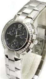 コンコルド 時計 Concord La Scala Chronograph with Diamond Markers and Diamond Bezel Mens Watch