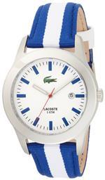 ラコステ 時計 Lacoste Advantage White Dial Blue and White Strap Mens Watch 2010500