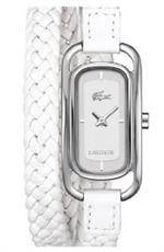 ラコステ 時計 Womens White Lacoste Sienna Braided Strap Watch 2000739
