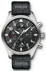 アイダブルシー 時計 IWC Pilot Black Dial Chronograph Automatic Mens Watch<img class='new_mark_img2' src='https://img.shop-pro.jp/img/new/icons9.gif' style='border:none;display:inline;margin:0px;padding:0px;width:auto;' />