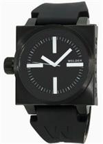 ウェルダー 時計 Mens K26 Series Black Stainless Steel Case Black Dial Black Rubber Strap