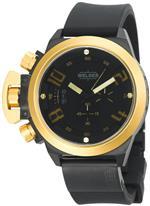 ウェルダー 時計 Welder Mens K24-3402 K24 Chronograph Gold/Black Ion-Plated Stainless Steel Round