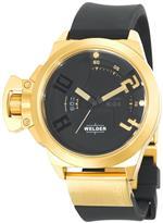 ウェルダー 時計 Welder Mens K24-3401 K24 Analog Gold Ion-Plated Stainless Steel Round Watch