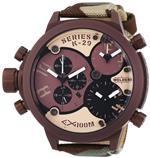ウェルダー 時計 Welder Unisex 8005 K29 Oversize Three Time Zone Chronograph Watch