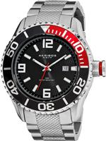 アクリボス 時計 Akribos XXIV Mens AK511SS Explorer Stainless Steel Large Divers Watch