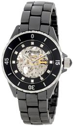 アクリボス 時計 Akribos XXIV Womens AK508BK Ceramic Midsize Automatic Black Bracelet Watch