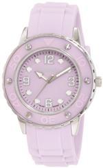 ハウレックスイタリア 時計 Haurex Italy Womens 1D371DLL Vivace Lilac Dial Rubber Date Watch