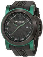 ハウレックス 時計 Haurex Italy Mens 1D370UNV San Marco Green Aluminum Black Rubber Watch